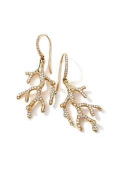 4a9ccfc9 Coral Branch Earrings Gold Diamond Earrings, Coral Earrings, Diamond  Jewellery, Jewellery Box,