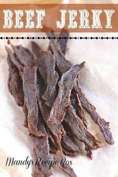 Mandys Recipe Box: Beef Jerky - This was so easy. The hardest part was waiting for the meat to dry so I could eat it. i could use this to make gator jerky, venison jerky and Homemade Beef Jerky, Yummy Treats, Yummy Food, Deer Recipes, Jerky Recipes, Smoker Recipes, Deer Meat, Dehydrated Food, Dehydrator Recipes