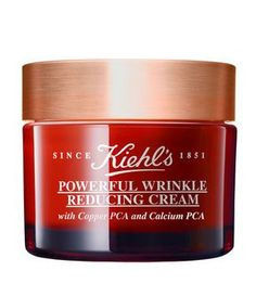 Powerful Wrinkle Reducing Cream by Kiehl's Since Best anti-aging skin care moisturizer to smooth fine lines and wrinkles. Minimize pores & restore younger looking complexion. Face Wrinkles, Prevent Wrinkles, Creme Anti Rides, Kiehl's Since 1851, Best Eye Cream, Les Rides, Skin Elasticity, Kiehls, Homemade Skin Care