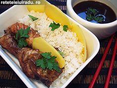 Chicken Teriyaki with mango slices & rice Teriyaki Chicken, Japanese Food, Mashed Potatoes, Nom Nom, Mango, Food And Drink, Rice, Beef, Ethnic Recipes