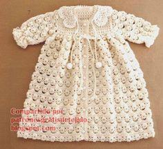 Patrones y moldes de tapado de bebé al crochet