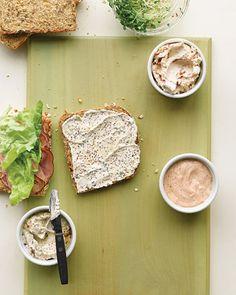 3 recipies for Sandwich spread, Tex mex Mayo, Herbed Mustard
