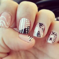 Cute tribal. #NailArts