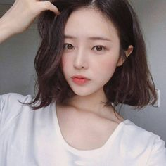 ➷ulzzang ღ girls➶ Cute Hairstyles For Short Hair, Girl Short Hair, Trendy Hairstyles, Girl Hairstyles, Medium Hair Styles, Short Hair Styles, Ulzzang Hair, Korean Ulzzang, Korean Short Hair