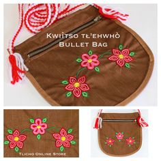 Kwıı̀tso tł'ehwhò (Bullet #Bag) made by a #Tlicho from #Behchoko, NT. online at http://onlinestore.tlicho.ca/products/bullet-bag