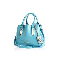 Blue mini tote bag £30 #riverisland