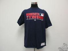 Majestic Minnesota Twins Short Sleeve Crewneck t Shirt sz L Large Baseball MLB #Majestic #MinnesotaTwins