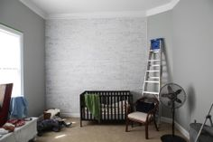 painting faux brick