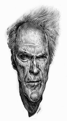 Clint Eastwood By Medi Belortaja-Albania/Sep,2014