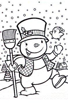 Coloriage Bonhomme de neige !