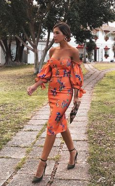 Sexy Orange Red Off Shoulder Floral Print Bodycon Dress Brand Naychic Color Orange red SKU Gender Women Style Elegant/Sexy/Fashion Type Bodycon Dress Occasion Party/Vacation/Daily Life Material Polyester fiber Sexy Dresses, Evening Dresses, Casual Dresses, Fashion Dresses, Summer Dresses, Dresses Dresses, Formal Dresses, Elegant Dresses, Fitted Dresses