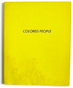 colored people ed ruscha - Colored People Book