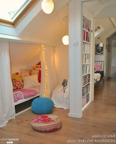 girls loft bed with desk . girls loft bed with slide Loft Room, Bedroom Loft, Home Decor Bedroom, Bedroom Furniture, Rustic Furniture, Bedroom Ideas, Bed Ideas, Bedroom Designs, Furniture Makeover