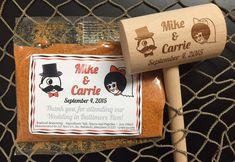 Baltimore Orioles Colored Wedding Theme. Natty Boh and Sally Utz Wedding Favors