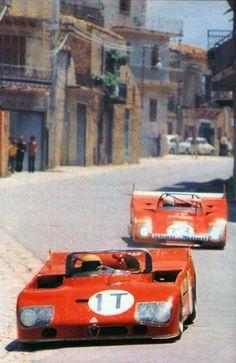 Alfa Romeo Tipo 33 Ferrari 312 @ the Targa Florio...