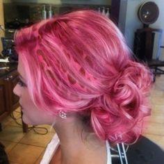 Pink leopard hair.