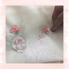 @isabellegeneva Zardozi Embroidery, Embroidery Suits, Hand Embroidery Designs, Beaded Embroidery, Embroidery Stitches, Embroidery Patterns, Machine Embroidery, Maggam Work Designs, Thread Work