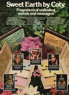 1976 MAGAZINE AD: Coty Sweet Earth Perfume Compacts Flower Fragrances Combos