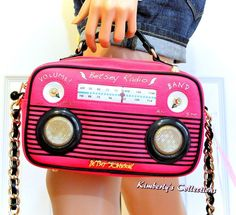 Betsey Johnson Boom Box Crossbody Bag w/ Built In Portable Phone Speakers NWT #BetseyJohnson #ShoulderBagCrossbodybagSatchel