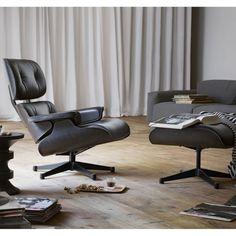 Vitra Eames Lounge Chair Loungesessel mit Ottoman Loungestuhl (neue Maße) schwarz http://www.flinders.de/vitra/