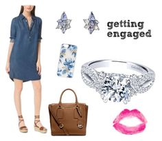 """""""Getting engaged"""" by bengarelick ❤ liked on Polyvore featuring Michael Kors, Monica Rich Kosann, Sonix, Topshop, women's clothing, women, female, woman, misses and juniors"""
