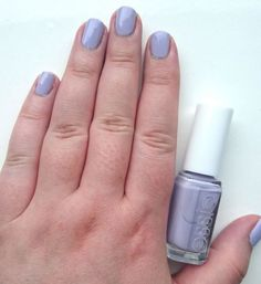 Nails of the Day // Essie  Virgin Snow // Pale Pastel Lilac!