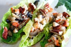 Eat To Your Heart's Content : Deliriously Delicious Dining Discoveries: EASY RECIPE : NUTTY SHRIMP LETTUCE BOATS