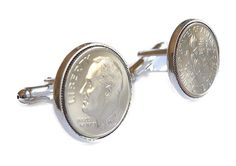 2006 Cufflinks Tin Anniversary Gift 10 year by PeregrinVintage