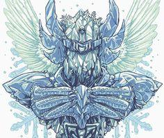 Imagem da ilustração Cisne por Rodrigo Gafa