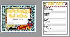 superhero classroom theme pictures - Google Search