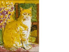 Ruskin Spear R. (British, The Ginger Cat x cm. x 12 in. Ginger Cats, Cat 2, Dog Art, Auction, Kitty, Fine Art, Cousins, Dogs, Artist