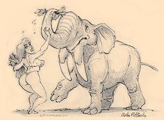 O Homem Ilustrado - The Illustrated Man: Girls and dinosaurs
