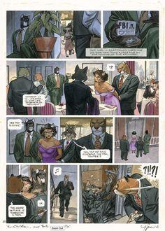 """Juanjo Guarnido, 2005, Blacksad, """"Ame Rouge"""" by Juanjo Guarnido - Comic Strip"""