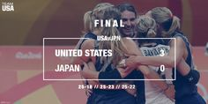 USA Volleyball Women Into SFs in Rio! Team USA beat a spirited Team Japan 3-0! 8/16/16