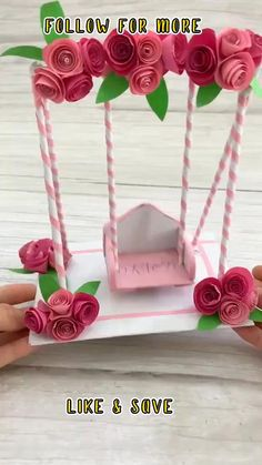 Paper Flowers Craft, Paper Crafts Origami, Paper Crafts For Kids, Flower Crafts, Diy Paper, Paper Craft Work, Origami Art, Fabric Crafts, Diy Crafts For Teens