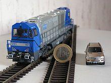 HO Scale Engine and Vehicle