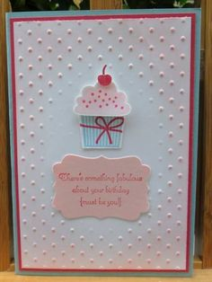 Polka Dot Embossed Cupcake by ChristieW - Cards and Paper Crafts at Splitcoaststampers