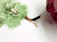 How to Watercolor a tree