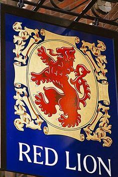 The Red Lion pub sign, London, England, United Kingdom, Europe