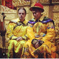 Sebastian Stan & friend Charles Chu