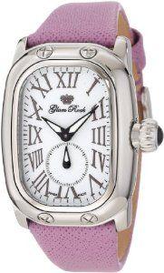 Glam Rock Women's GR72312-PUR Monogram White Dial Purple Leather Watch