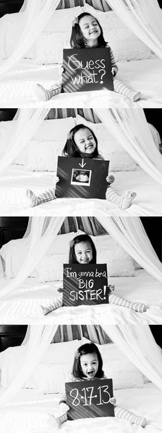 How sweet! She just looks so happy about her little sister announcement :)
