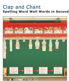 Clap and Chant!   This is a fun activity for students to clap and chant out the spelling of or words in their word wall. Each day students can practice reading, and clapping the words in different ways to recognize their spelling patterns. This activity is also a word wall which is helpful for young students to refer to during class to help with their spelling. Great ideas from the Balanced Literacy Diet!