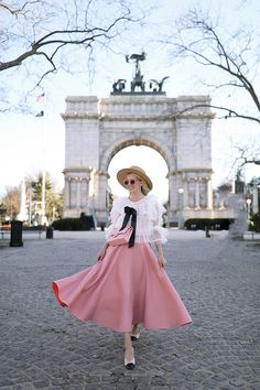 Skirt: Roksanda. Top: Storets (also love this one). Bag: Chanel. Hat: Gucci. Sunglasses: Illesteva. Flats: Chanel (I bought mine here).