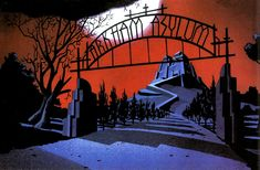 Batman: The Animated Series Background Art - Album on Imgur
