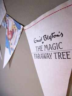 Custom made Enid Blyton bunting for a themed Nursery. £10 for 1.6 metres including p bargain! I hope she likes it