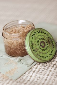 This homemade body scrub from #thevedahouse is simple and natural. Perfect for some pampering self-care or a thoughtful gift idea!