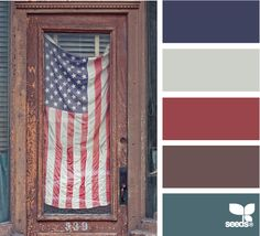 Labored Hues: Navy Blue, Grey, Russet Red, Aged Iron Iron Brown and Deep Teal