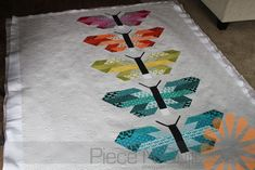 Piece N Quilt: Butterfly Quilt - Edge to Edge Machine Quilting by Natalia Bonner