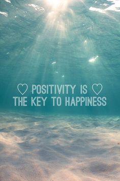 ¡La #positividad es la llave de la #felicidad! #BeHappy #BePositive